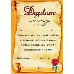 Dyplom wzorowy uczeń
